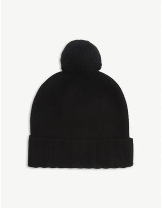 Johnstons Pom pom cashmere beanie hat