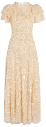 Needle & Thread Embellished Shirley Ribbon Midi Dress