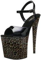Pleaser USA Women's Motif-809LP Ankle-Strap Sandal