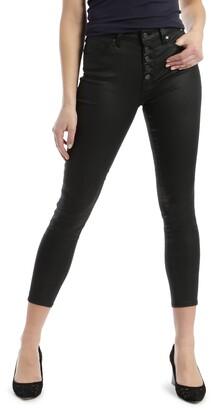 Mavi Jeans Tess High Waist Coated Crop Super Skinny Jeans