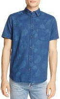 Rails Carson Palm-Print Regular Fit Button-Down Shirt
