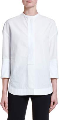 Giorgio Armani 3/4-Sleeve Poplin Tunic