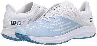 Wilson Kaos 3.0 (White/White/Niagara) Women's Tennis Shoes