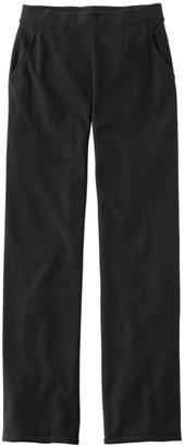 L.L. Bean Women's Perfect Fit Pants, Fleece-Backed Straight-Leg
