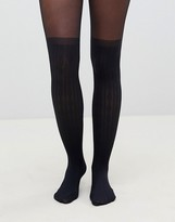 Asos Design DESIGN recycled cable over the knee tights with control top