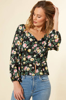 Abbeline Button Front Peplum Blouse Multi XS