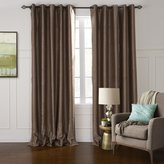 """MICHELE HOME FASHION 42""""W x 102""""L (Set of 1 panel) Lining And Blackout 20 sizes Available Custom Modern Coffee Solid Floral Embossed Window Treatment Draperies & Curtains Panels"""