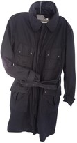 Closed Black Cotton Trench Coat for Women