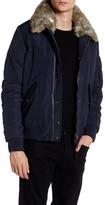 Zadig & Voltaire Karson Detachable Faux Fur Trim Bomber Jacket