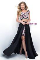 Blush Lingerie Two-Piece Floral V-Neck Satin A-Line Dress 11288