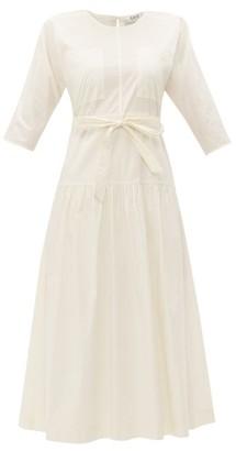 Sea Luna Cotton-blend Midi Dress - Womens - White