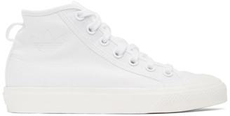 adidas White Nizza Hi Sneakers