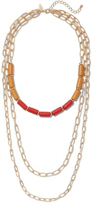 New York & Co. Beaded Layered Link Necklace