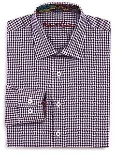 Robert Graham Boys' Miller Houndstooth Dress Shirt - Big Kid