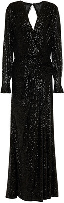 Jonathan Simkhai Wrap-effect Sequin-embellished Stretch-tulle Gown