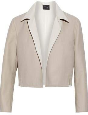 Akris Cropped Wool-blend Blazer