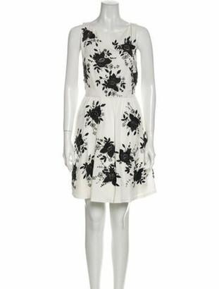 Alice + Olivia Silk Mini Dress w/ Tags White