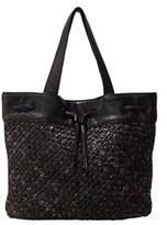 Liebeskind Berlin Topeka Snake Embossed Handwoven Leather Bucket Bag.