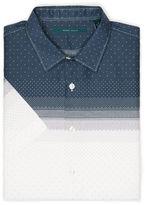 Perry Ellis Slim Fit Short Sleeve Mini Dot Print Shirt