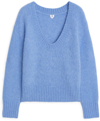 Arket Scoop-Neck Knitted Sweater