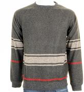 MHI Striped Wool Woven Jumper Charcoal