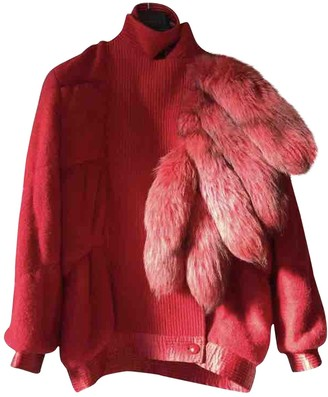 N. Non Signé / Unsigned Non Signe / Unsigned \N Red Wool Jackets