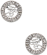 M2 Design by Mary Margrill Women's Pave Diamond Round Stud Earrings