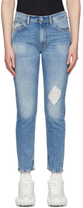 Acne Studios Blue Bla Konst Destroyed Melk Jeans
