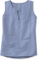 L.L. Bean Embroidered Linen/Cotton Shirt, Popover Sleeveless