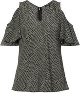 Derek Lam cut-off shoulders V-neck blouse - women - Silk - 38