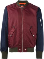 Diesel contrast sleeve bomber jacket