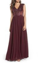 Sean Collection Women's Embellished Mesh & Chiffon Gown