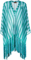 Missoni fringed cover-up - women - Polyester/Cupro/Viscose - S