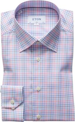 Eton Plaid Extra Slim Fit Dress Shirt
