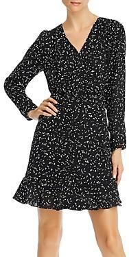 Aqua Printed Long-Sleeve Ruffled Dress - 100% Exclusive