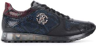 Roberto Cavalli snake print low-top sneakers