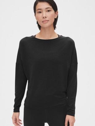 Gap GapFit Breathe Cross-Back Long Sleeve T-Shirt