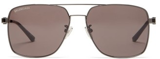 Balenciaga Aviator Metal Sunglasses - Grey