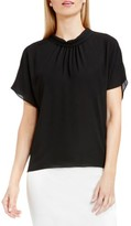 Vince Camuto Women's Shirred Mock Neck Blouse