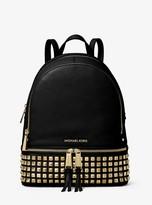 MICHAEL Michael Kors Rhea Medium Studded Pebbled Leather Backpack