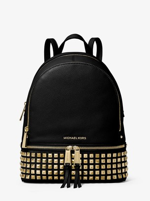 MICHAEL Michael Kors Rhea Medium Studded Pebbled Leather Backpack