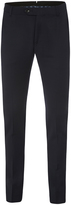 Oxford Auden Wool Suit Trousers Navy X