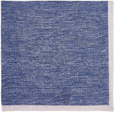 Fairfax Men's Bordered Slub-Weave Linen Pocket Square-BLUE, GREY