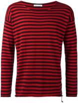 Societe Anonyme raw edge striped jumper