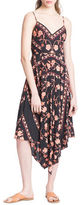 Plenty by Tracy Reese Floral Scarf Slip Dress
