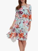 Gina Bacconi Sohalia Floral Print Mini Dress, Turquoise