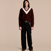 Burberry Sports-striped Wool Sweater
