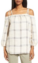 Nordstrom Women's Off The Shoulder Plaid Top