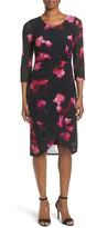 T Tahari Ingrid Side Twist Sheath Dress