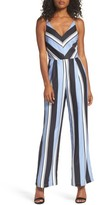 Adelyn Rae Women's Stripe Crepe Jumpsuit